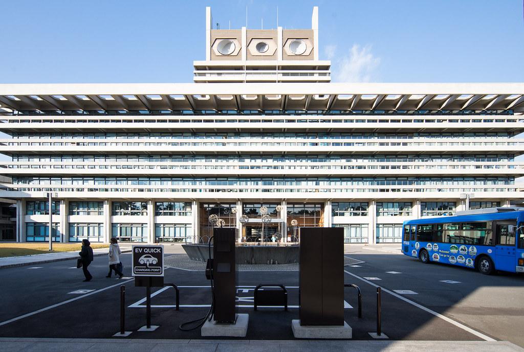 Facade of Nara Prefectural Government Office (奈良県庁舎)