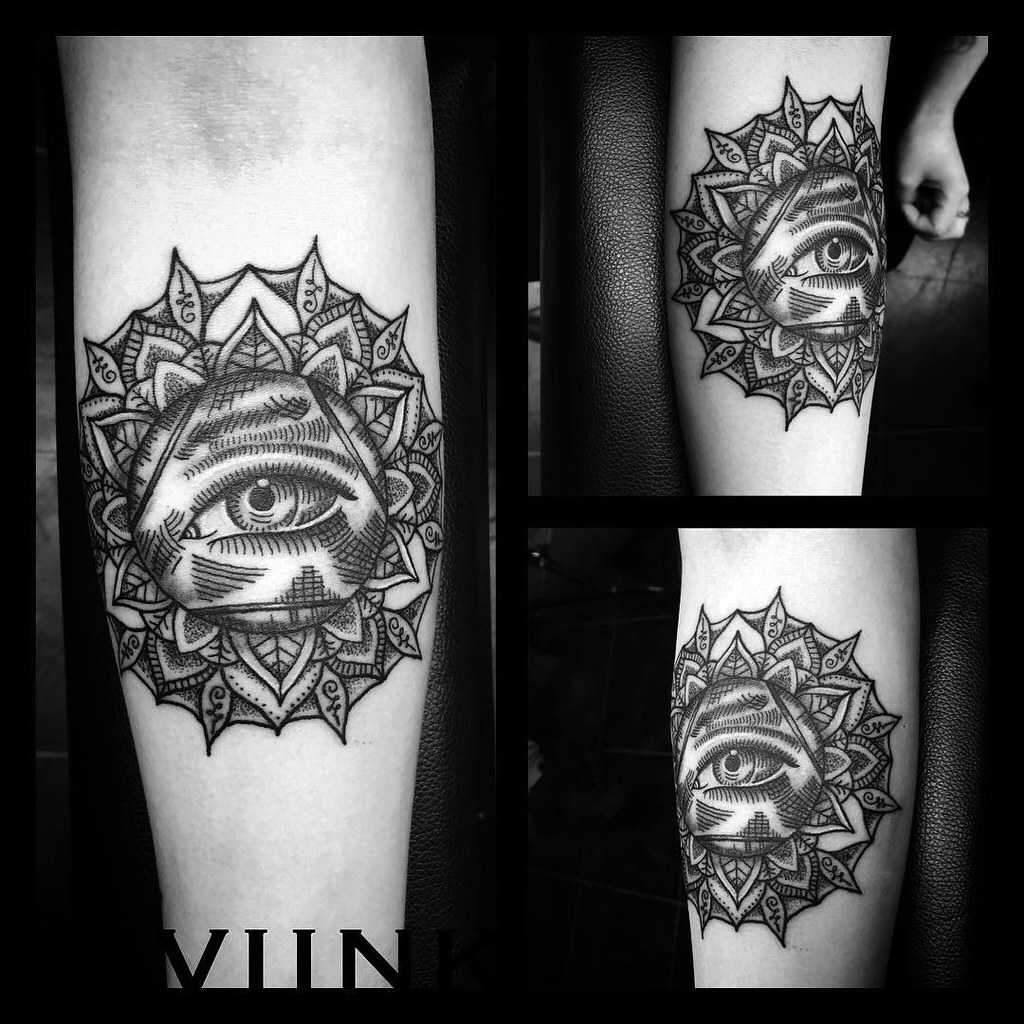 Custom forearm 'All Seeing Eye Mandala' ... Solid as a roc… | Flickr