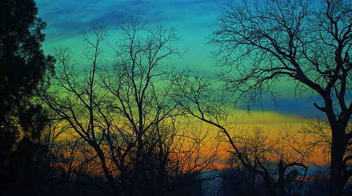 park sunset usa oklahoma tulsa hdr