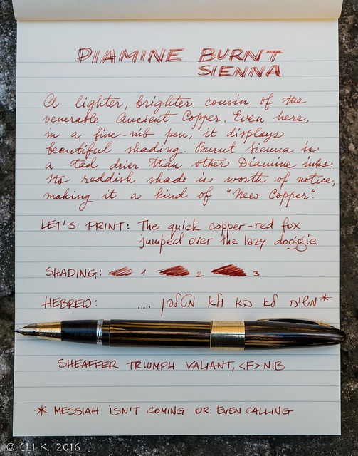 Sheaffer Triumph Valiant, Diamine Burnt Sienna