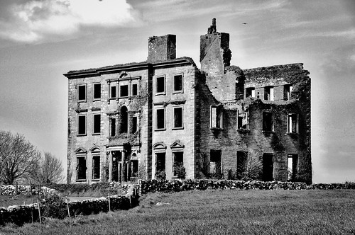 county ireland house abandoned galway blackwhite noiretblanc april disused derelict tyrone 2016 kilcolgan