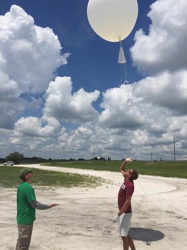 Balloon and radiosonde ascend
