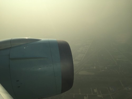 Landing in the smog in Shanghai | by Marc van der Chijs