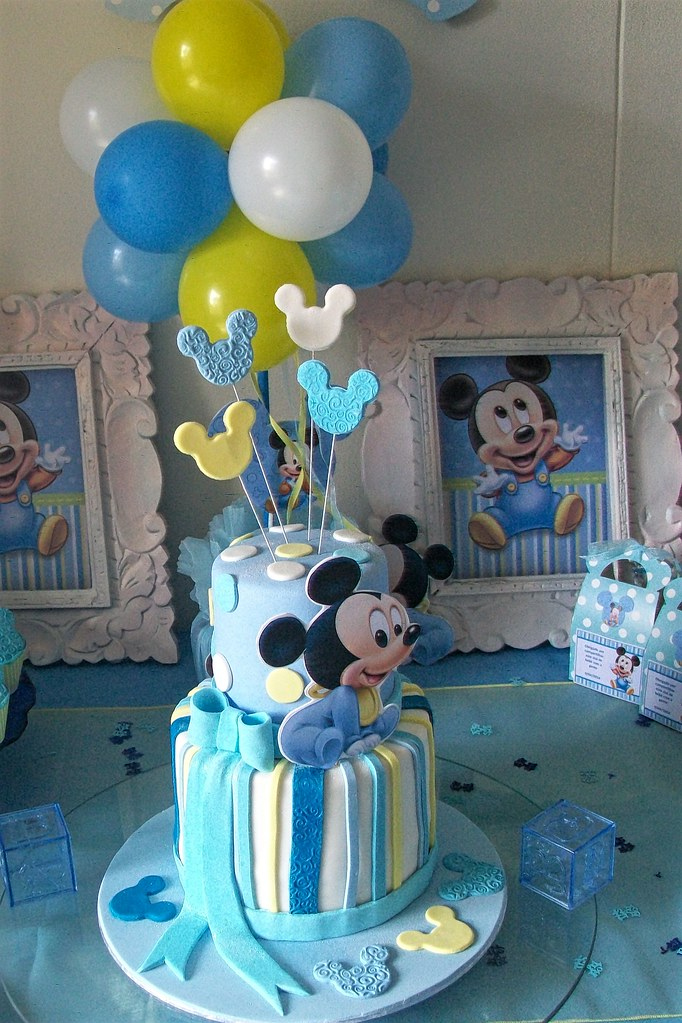 Mickey Mouse Baby Cake Cupcakes Treasures And Tiaras