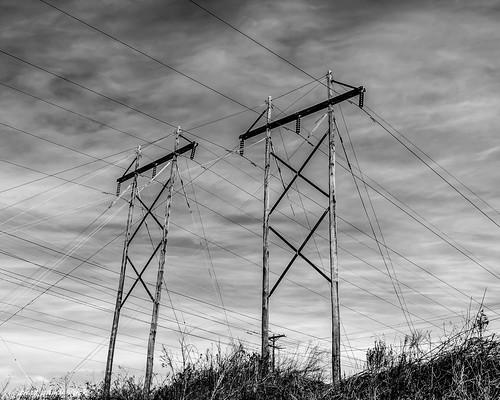 southcarolina unitedstates powerlines surreal bw blackwhite nikon
