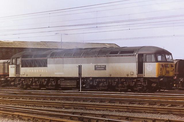 EWS TRANSRAIL LIVERIED 56054 BRITISH STEEL LLANWERN