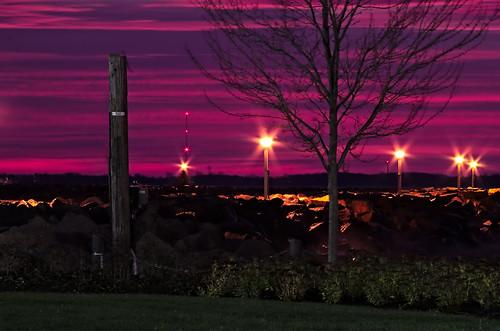 sky clouds morning sunrise kingston breakwall tree cc0 darktable