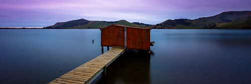 longexposure blue sunset red bird birds clouds coast boat soft shed hills dunedin inlet portobello hoopers otagopeninsula birdlife bigstopper
