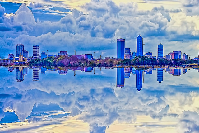 Reflections from downtown Jacksonville, Florida, U.S.A.