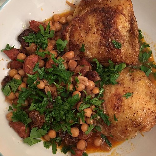 Chicken, chickpeas and chorizo. | by adactio