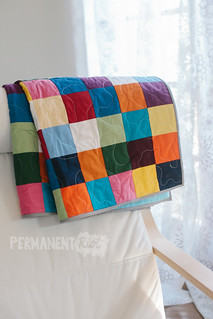 rainbow-patchwork-baby-quilt-1 | by katy regnier