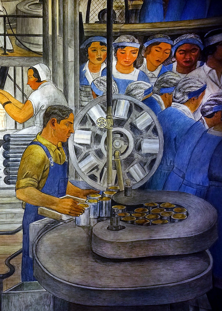 Coit Tower murals - canning operation