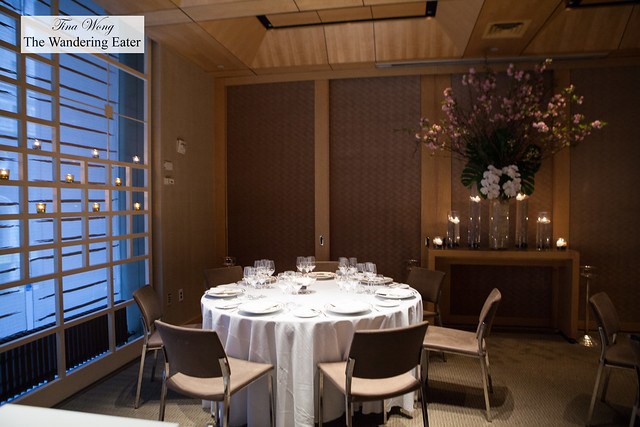 Partial interior of private dining room