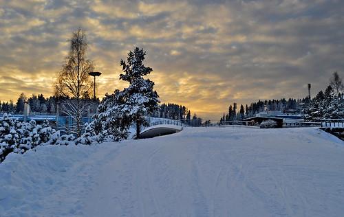 winter sunset sky light evening clouds snow nature talvi talvimaisema finland suomi auringonlasku taivas trees luonto landscape maisema nikon d3200 ilta coldsunset nikond3200 europe