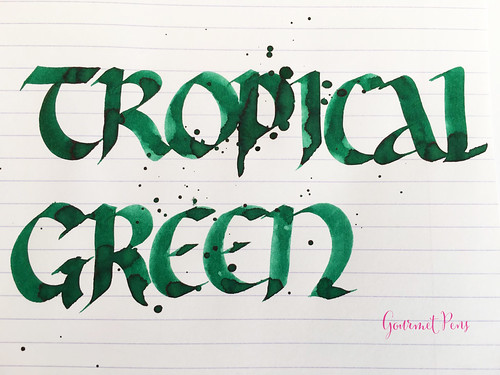 Ink Shot Review Diamine 150th Anniversary Tropical Green (7) | by GourmetPens