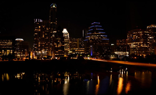 austin texas estados unidos américa america united states colorado river río puente noche night city ciudad luces citylights skyline rascacielos skyscrapers buildings nikon d3200