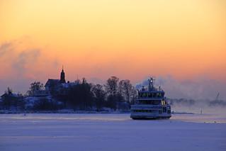 Klippan silhouette in the sunrise glow, Helsinki | by Andrey Sulitskiy