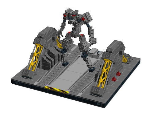 Modular Mech Hangar A LDD test build | by Messymaru