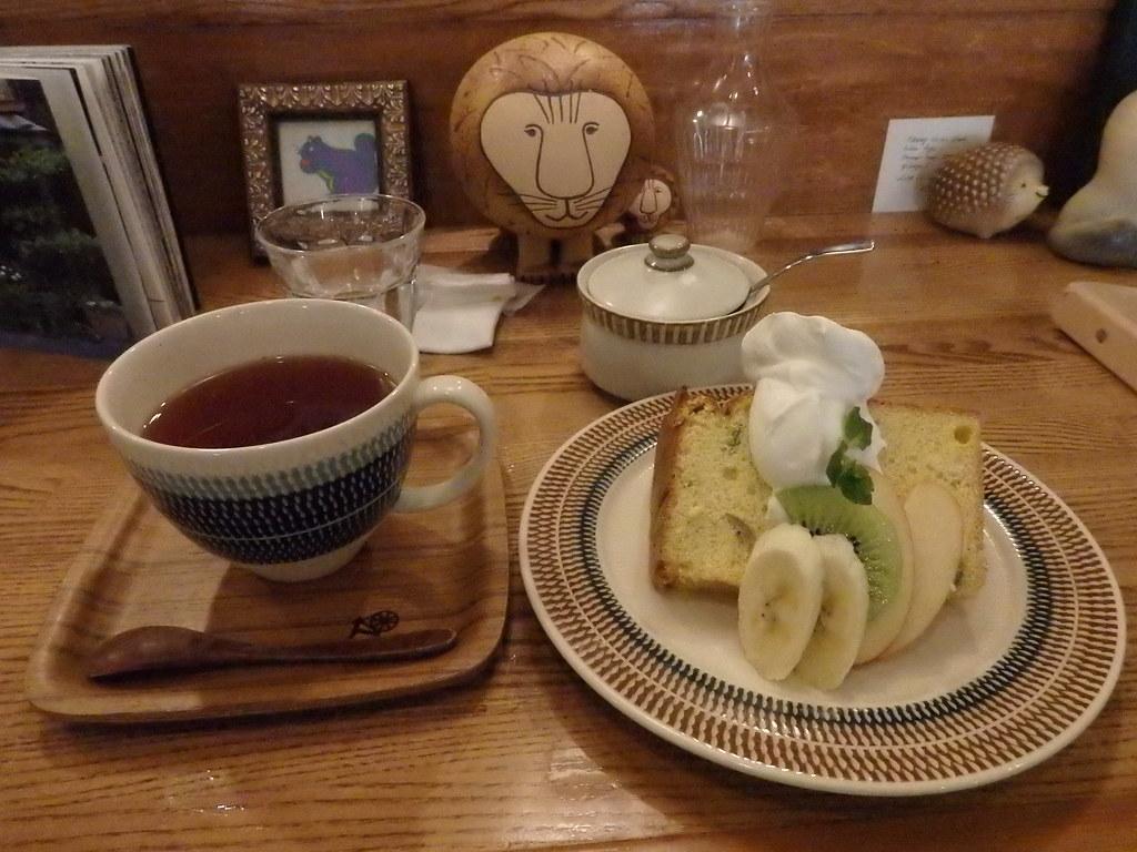 20150220つむぐカフェ かぼちゃのシフォンケーキ