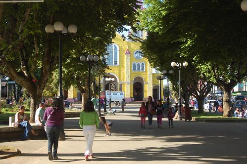 Plaza of Castro, Chiloé, Chile | by blueskylimit