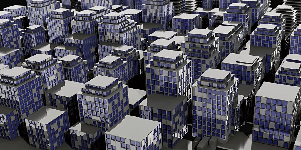 Synth city 3 | Another attempt of procedural city generation… | Flickr
