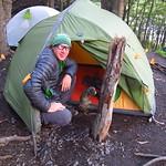Di, 29.12.15 - 07:38 - Etwas knapp Platz für unser Zelt ...
