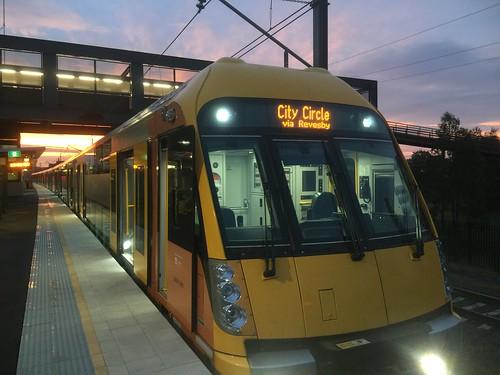 sunset train transport sydney rail trains waratah macarthur