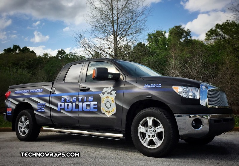 Police truck wrap in Orlando by TechnoSigns