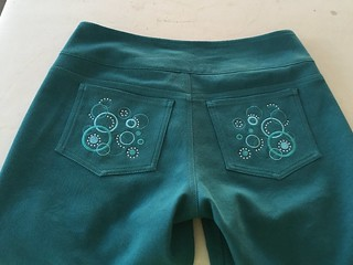 Teal jeans - back closeup | by saashka