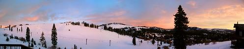 california panorama snow sunrise landscape tahoe donner