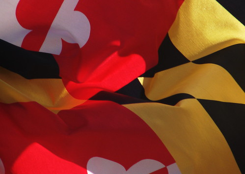 Maryland's flag could beat up your flag. | by sidewalk flying