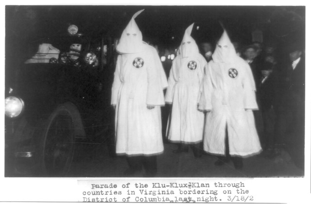 No Known Restrictions: Parade of the Klu Klux Klan through Northern Virginia March 18, 1922 (LOC)