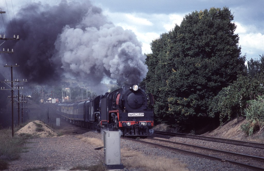 Smoky Departure from Wodonga by Alan Greenhill