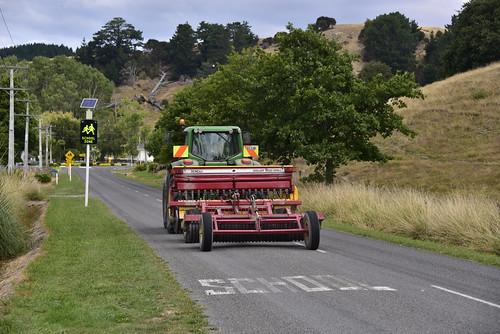newzealand signs tractor sign john diesel engine seed nz wellington roller duncan pulling deere drill 2011 6930 tinui 6800cc a1jjb
