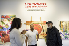 This art exhibition was curated by UMD students in Professor Kuo's Foxworth course.  Under the guidance of Professor Jason Kuo and Brentwood Arts Exchange Director Phil Davis.  Supported in part by The Foxworth Creative Enterprise Initiative at the University of Maryland.  Photo courtesy of Marketa Ebert