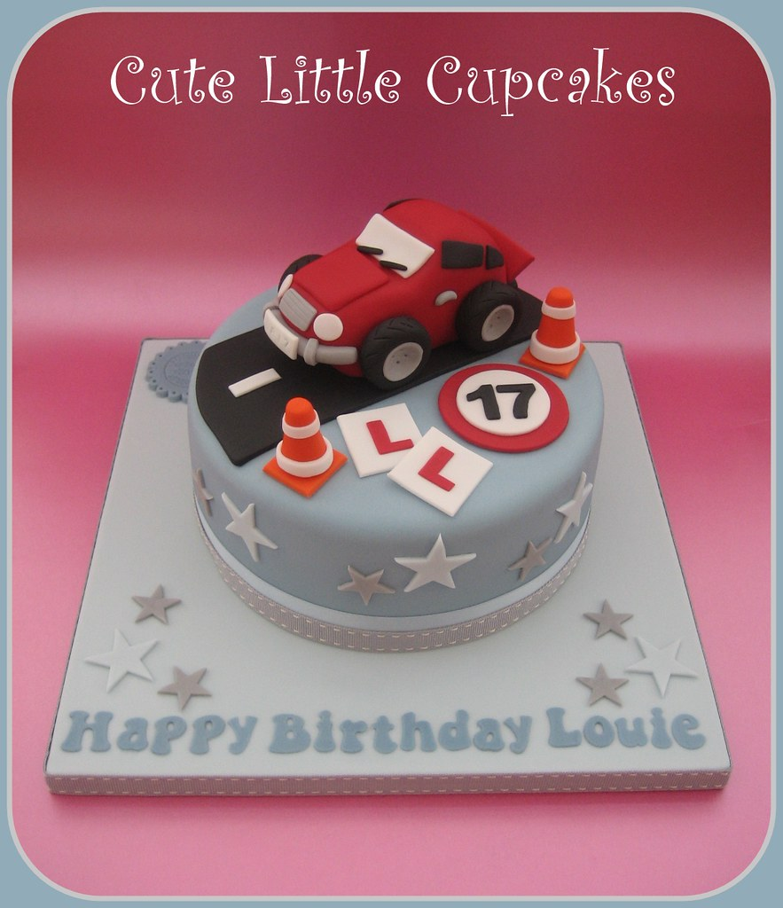 Terrific 17Th Birthday Car Cake Heidi Stone Flickr Personalised Birthday Cards Veneteletsinfo