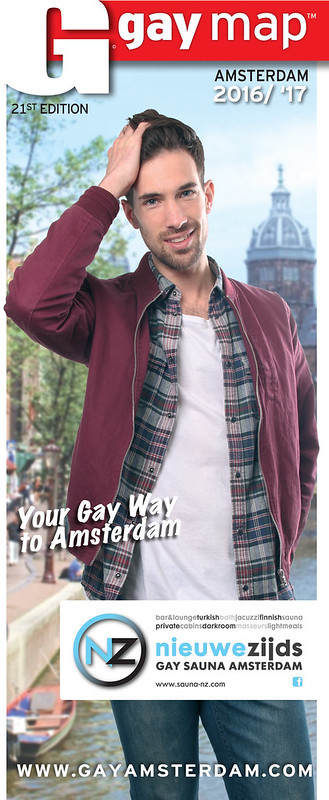 Cover Amsterdam Gay Map 2016, in opdracht van Gay International Press