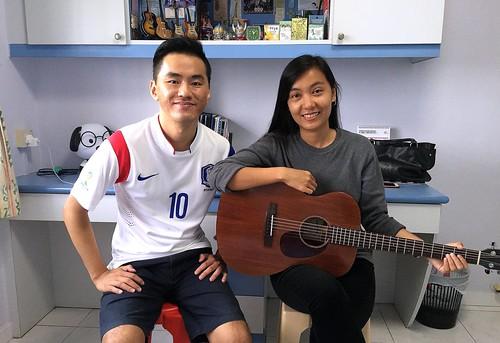 Adult guitar lessons Singapore Cho Mar