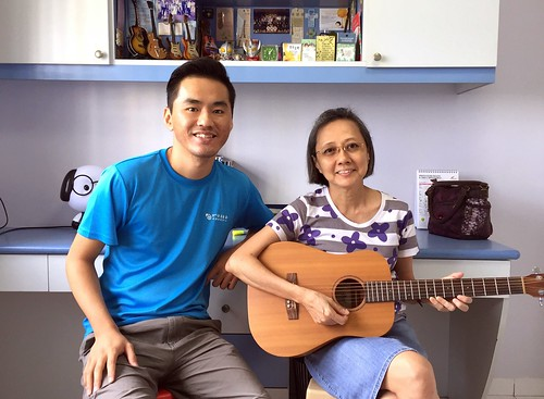 Adult guitar lessons Singapore Mdm Lim