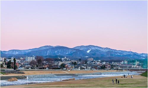 kanazawashi ishikawaken japan jp saigawa 犀川 お正月 金沢 日の入り sunset kanazawa ishikawa