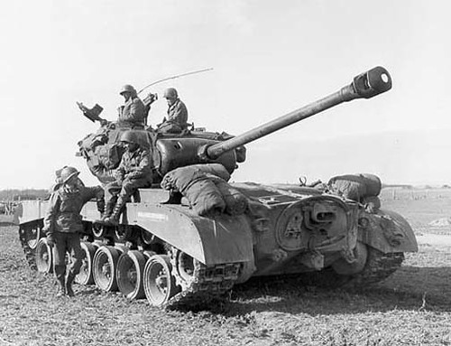 M26 Pershing heavy tank of US 9th Armored Division