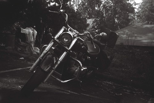 Motorcycle in black-and-white | by Matthew Paul Argall