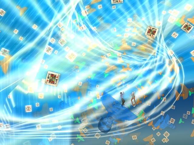 Dragon Moon - Particles Show -Dealt Cards