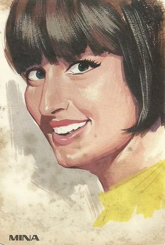 Mina, portrait by F. Picchioni