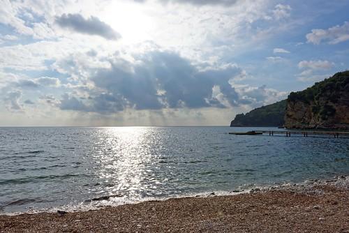 sea sky sun sunlight seascape water clouds nikon europe outdoor eu seaview montenegro d810
