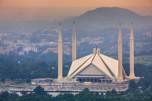 travel pakistan horizontal architecture outdoors asia muslim landmark mosque pk islamabad colorimage islamicculture faisalmosque highangleview indiansubcontinent islamabadcapitalterritory