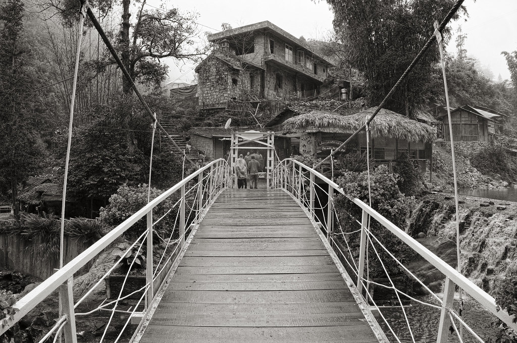 The bridge at Cat Cat village
