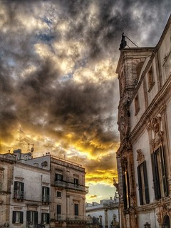 The sky over Martina Franca