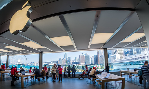 IFC Apple Store 3rd Floor View