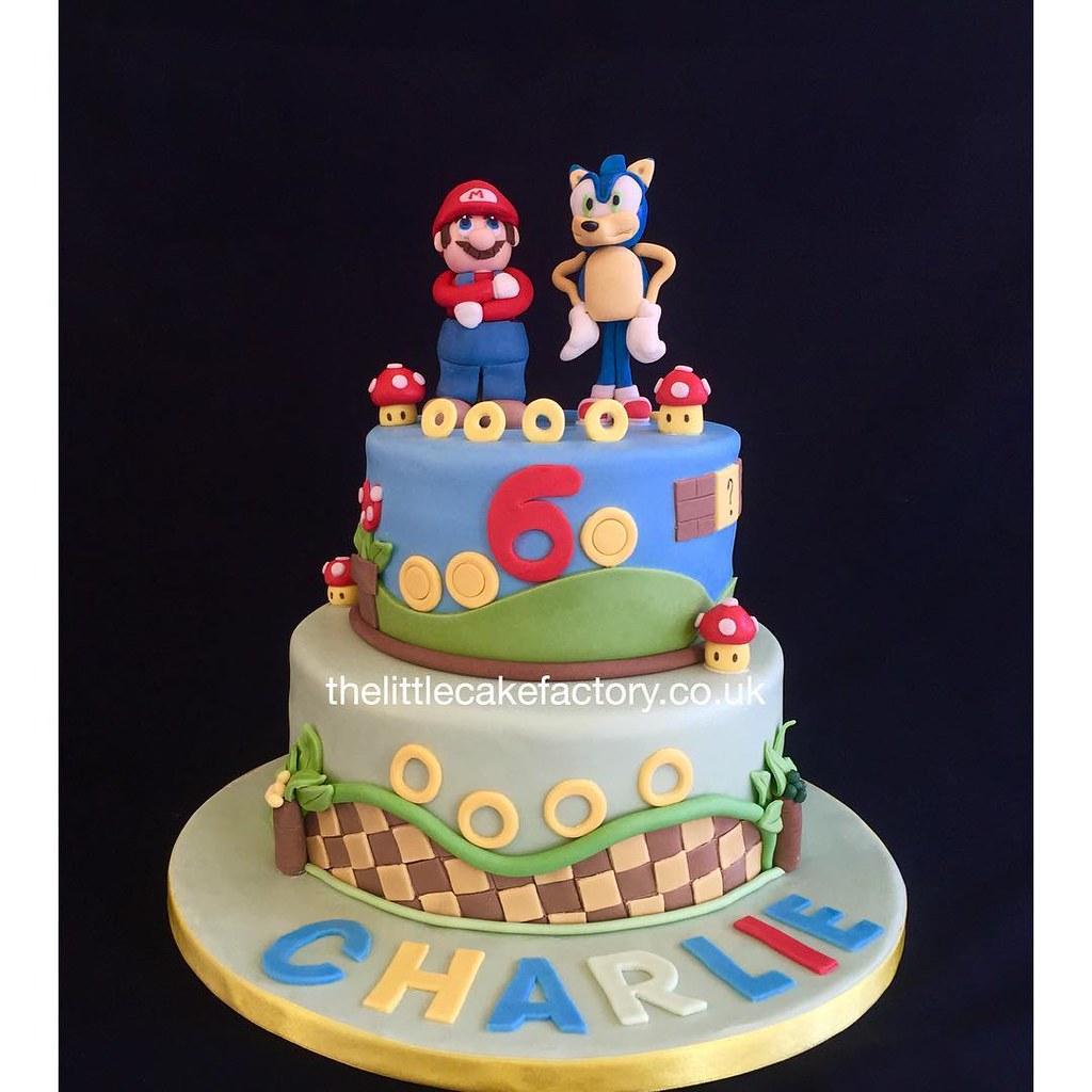 Fantastic Mario Sonic Birthday Cake Supermario Supermarioworld So Flickr Funny Birthday Cards Online Alyptdamsfinfo